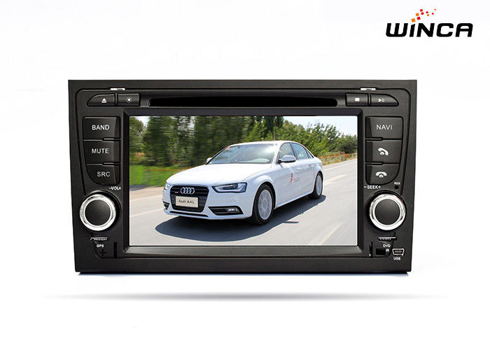 OEM Audi A4 Full Touch Screen Car DVD Player with Canbus BT 3G AM / FM Navigation