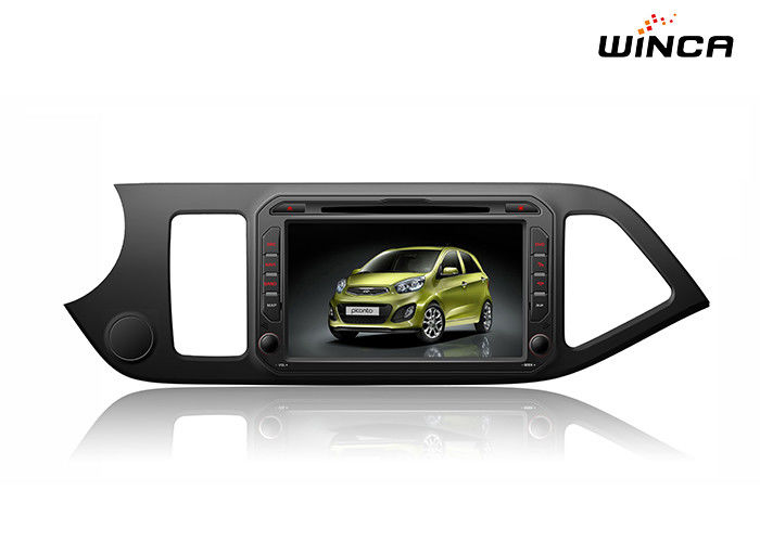 Full Touch Kia GPS Navigation Picanto Car Stereo Android 6.0 Dvd Support 3g / Wifi